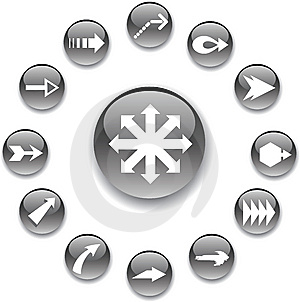 Set Buttons - 99_A. Arrows Royalty Free Stock Photo - Image: 8599735