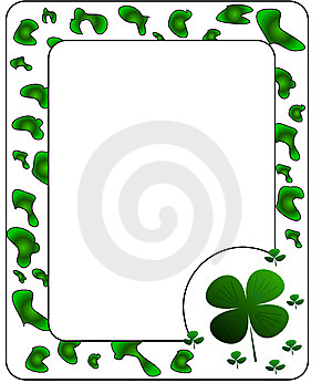 Frame With Clover. Stock Image - Image: 8599781