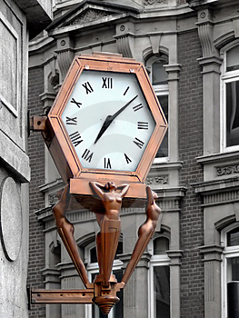 Bronze Public Clock Stock Photos - Image: 860983