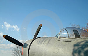 Vintage WWII Fighter Airplane Stock Photos - Image: 861423