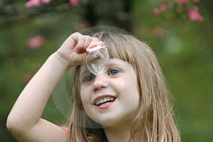 Girl Blowing Bubbles 5 Stock Images - Image: 863284