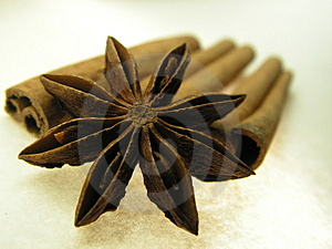 Cinnamon and star anise spice