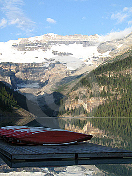 Canoes And Lake Stock Photo - Image: 8600210