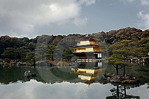 Golden Temple In Kyoto, Japan Royalty Free Stock Photos - Image: 8600238