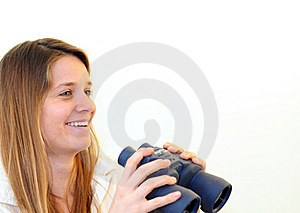 Teen With Binoculars Stock Image - Image: 8600281