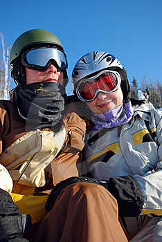 Two Snowboarders Stock Images - Image: 8600414
