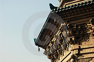 Part Of  A Pagoda Stock Image - Image: 8600451
