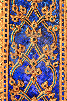 Wall Detail In Wat Phra Kaew Royalty Free Stock Photography - Image: 8600547