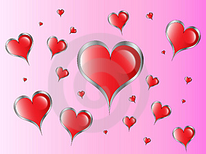 Red Hearts Royalty Free Stock Photography - Image: 8600657