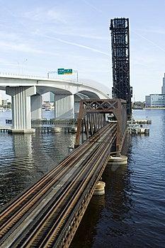 Railroad Bridge Royalty Free Stock Images - Image: 8600789