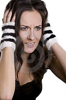Stressed Girl Royalty Free Stock Photography - Image: 8600927