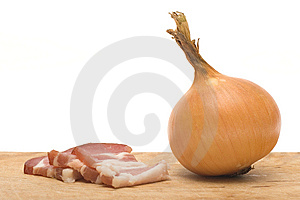 Bacon And Onion Stock Image - Image: 8601041