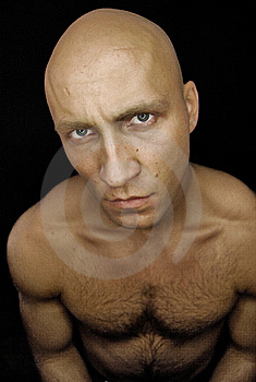 Baldhead Man With Hairy Chest Stock Images - Image: 8601064