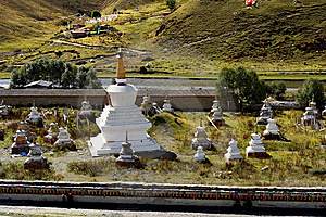 Day View Of Stupa At Tagong Sichuan Province China Royalty Free Stock Photo - Image: 8601425