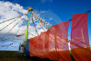 Day View Of Tibetan Monument In Tagong Sichuan Royalty Free Stock Image - Image: 8601516