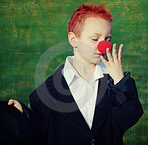 Boy With Red Nose Stock Photos - Image: 8601633