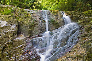 Two Small Waterfalls Royalty Free Stock Photos - Image: 8601748