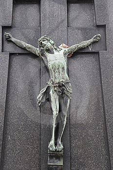 Cross With Jesu Statue Royalty Free Stock Photos - Image: 8601858