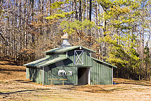 Green Horse Barn Royalty Free Stock Image - Image: 8602826