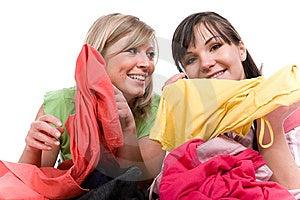 Shopaholics Royalty Free Stock Photos - Image: 8602948