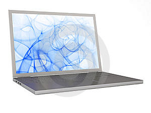 Modern Laptop Royalty Free Stock Photos - Image: 8603638