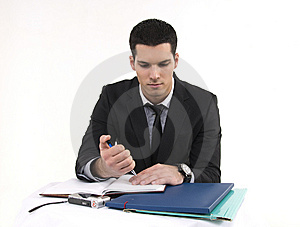 Businessman At Work Stock Photo - Image: 8604230