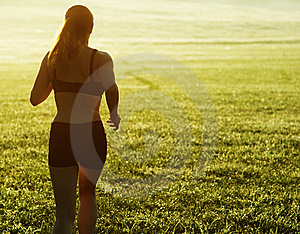 Beautiful Woman Runner Stock Image - Image: 8604401