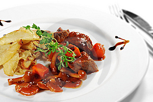 Stewed Beef With Potato Royalty Free Stock Photos - Image: 8604448