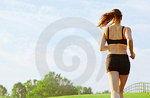 Beautiful Woman Runner Stock Images - Image: 8604464