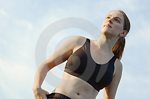Beautiful Woman Runner Royalty Free Stock Image - Image: 8604476