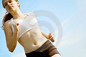 Beautiful Woman Runner Royalty Free Stock Photos - Image: 8604558