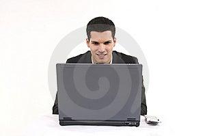 Businessman With Lap Top Stock Photos - Image: 8604623