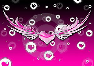 Heart With Wings Royalty Free Stock Image - Image: 8604696