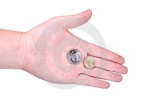 Coins In Hand Stock Photography - Image: 8605102