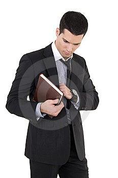 Businessman With Agenda Stock Image - Image: 8605181
