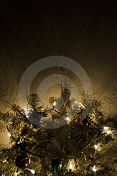 Illuminated Christmas Tree Stock Images - Image: 8605204