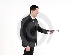 Businessman With Agenda Royalty Free Stock Photography - Image: 8605217
