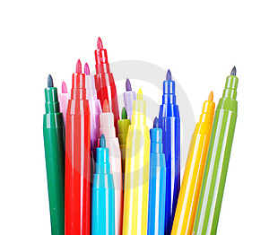 Color Pens Royalty Free Stock Photos - Image: 8605328