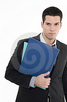 Businessman With Documents Stock Photo - Image: 8605590