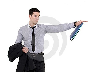 Businessman With Documents Stock Image - Image: 8605611