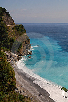 A Clean Coast In Taiwan Royalty Free Stock Image - Image: 8605736