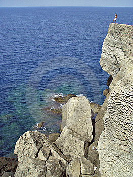 Coast Of Banyalbufar, Mallorca, Spain Stock Images - Image: 8605934