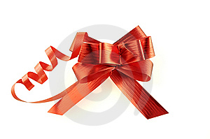 Red Ribbon Isolated Over White With Clipping Path. Stock Photo - Image: 8606450