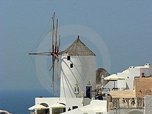 Windmil In Greece Royalty Free Stock Photography - Image: 8606677