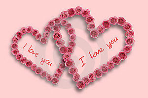 Love Heart With Rose Stock Photography - Image: 8607042