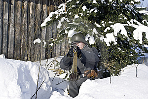 Finnish Soldier. Focus On Face Stock Images - Image: 8607064