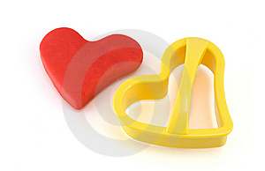 Red Heart And Form Stock Photos - Image: 8607143