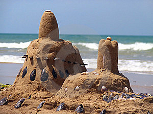 Castle From The Sand And Shells Stock Photography - Image: 8607282