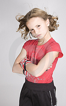 Hair Blowing Portrait Stock Photography - Image: 8607432