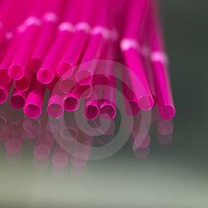 Pink Straws Stock Image - Image: 8607651